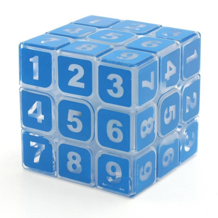 Z-Cube Sudoku 3×3 transparente azul